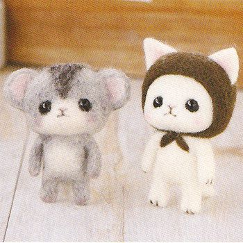 DIY Needle wool felt Cat and hamster KIT от HanamiBoutique, $13.90