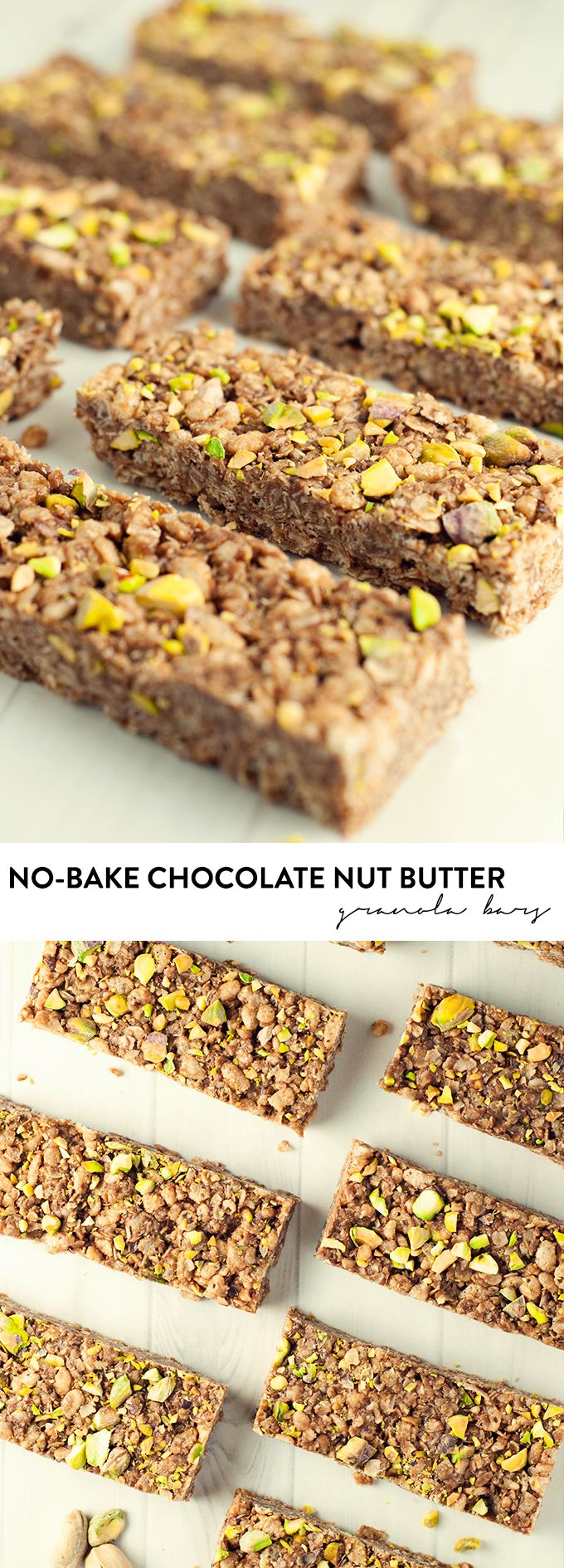 Make a delicious and healthy snack in minutes with these no-bake chocolate nut butter granola bars! asimplepantry.com