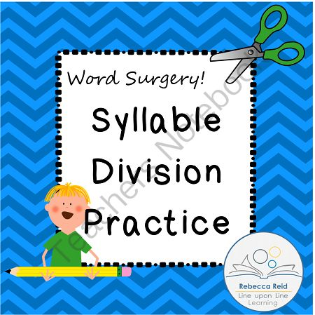 syllable division practice worksheets word surgery from rebecca reid 39 s line upon line learning. Black Bedroom Furniture Sets. Home Design Ideas