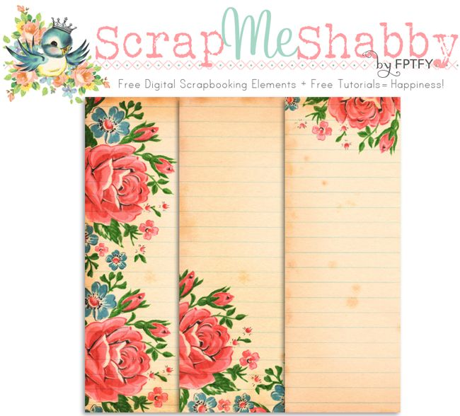 Free Vintage floral Digital Scrapbooking Papers  by FPTFY