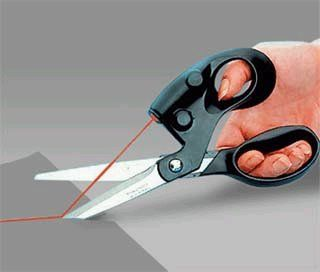 laser pointer on scissors for that perfect cut!