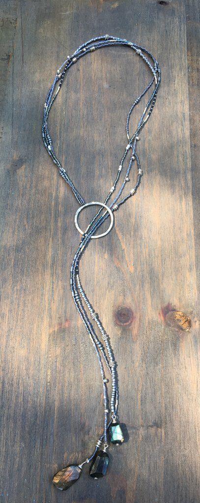 Triple strand Lariat Necklace 'Wendy' #JewelryInspiration