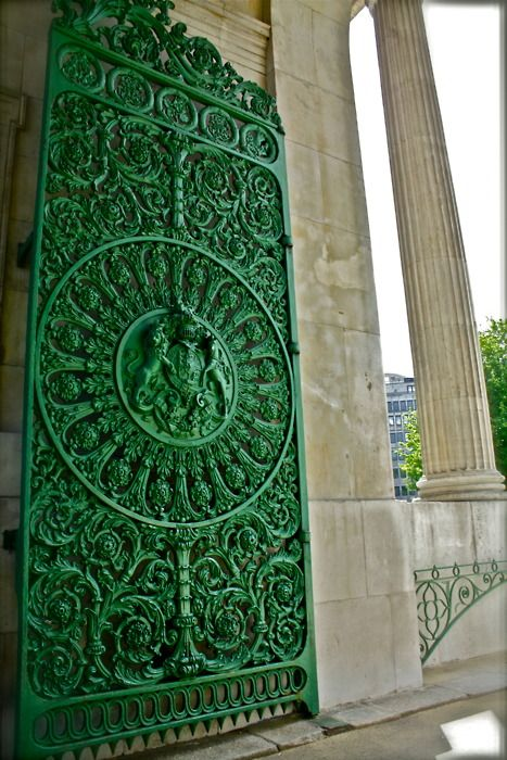 emerald green door - stunning detail, and the color just basically makes it perfect