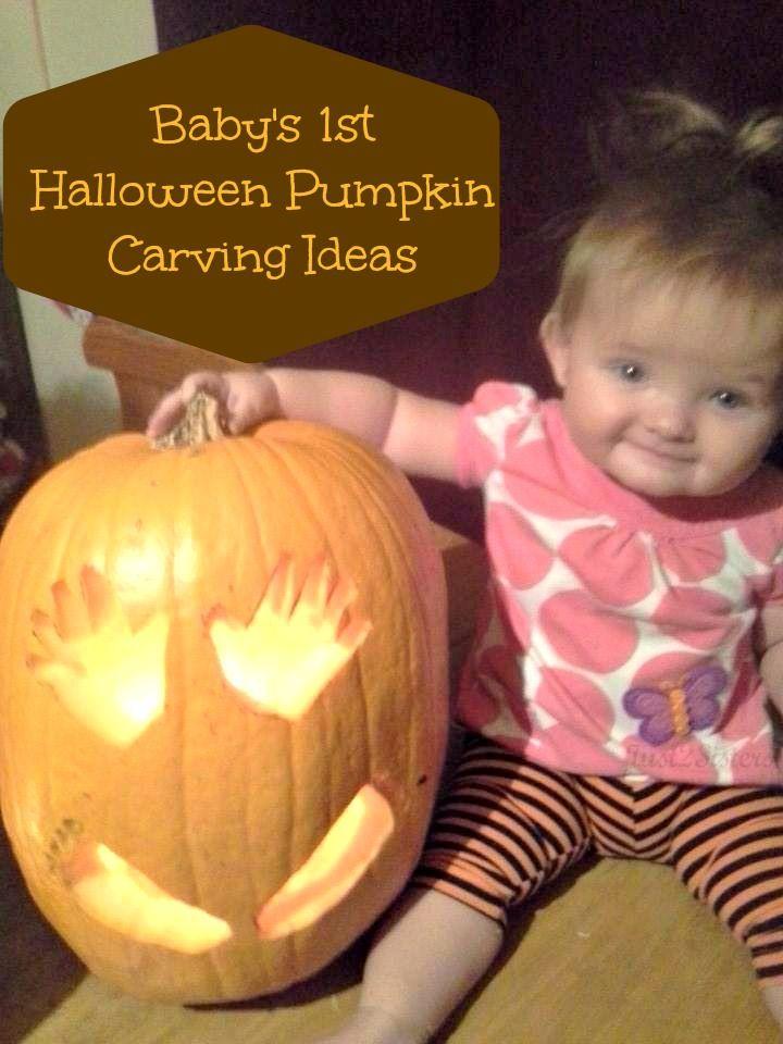 Baby's 1st Halloween Pumpkin Carving Ideas #Halloween #PumpkinCarving