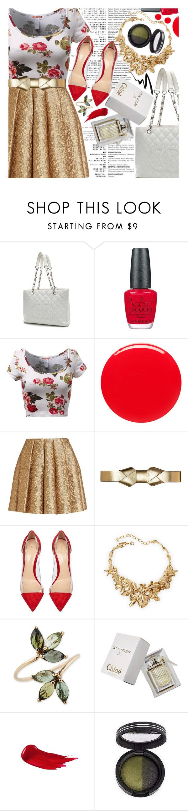 """I'm sorry if I seem uninterested"" by virtual-closet-collector ❤ liked on Polyvore featuring Chanel, OPI, Eve Snow, Creatures Of The Wind, Marni, Gianvito Rossi, Oscar de la Renta, Chloé, Laura Geller and Eyeko"