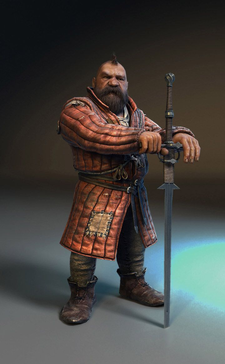 Zoltan Chivay is a dwarf, veteran of the Second Nilfgaard War, and a friend of Geralt. They first met when Geralt and his party were going towards the Yaruga river from Brokilon, but the dwarf advised them to join his company and go eastwards. It is from Zoltan that Geralt got his sword — Sihil. He also had a talking parrot, Field Marshal Windbag, which he sold to the gnome Percival Schuttenbach when he started a jeweler's workshop in Novigrad.