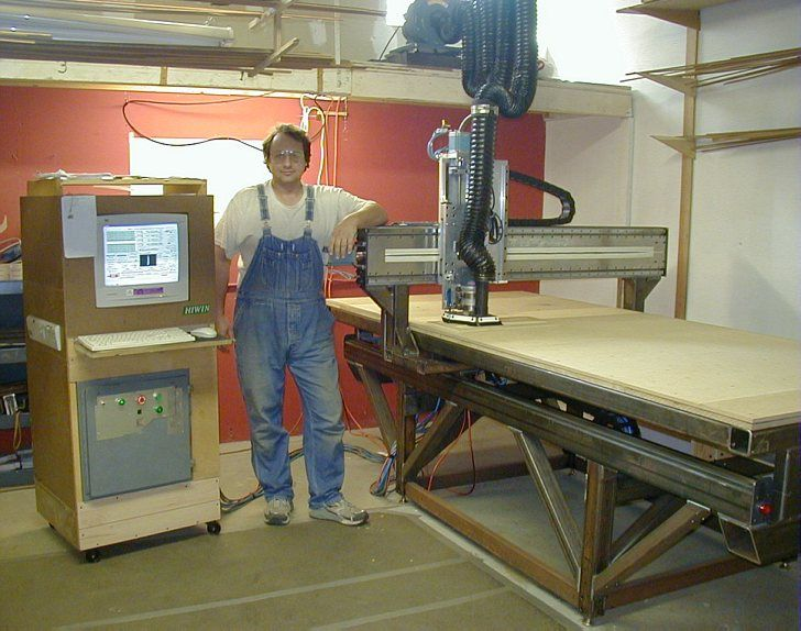 MadVac CNC  home made 4x8 cnc precision gantry router