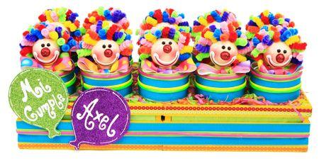 Dulceros de payasos para fiestas infantiles / Dulces para niños