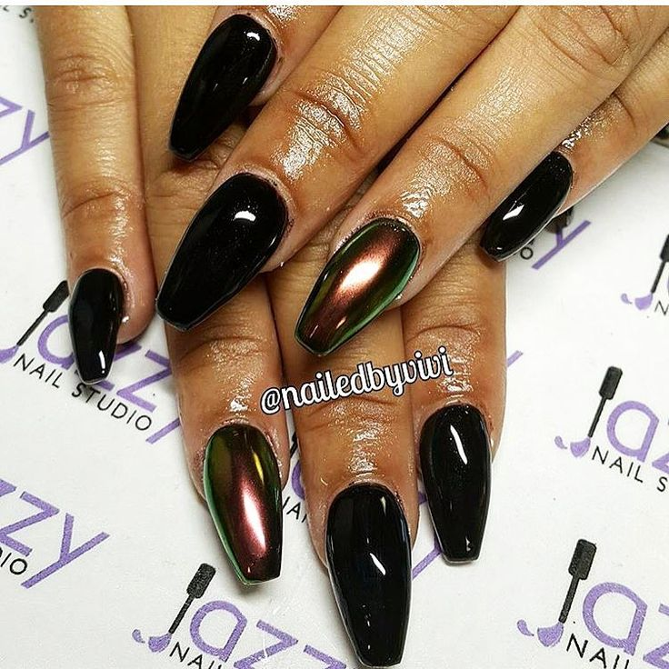Best 25+ Black Chrome Nails Ideas On Pinterest