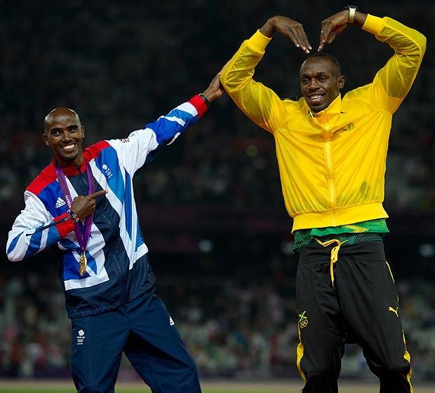 Mo Farah and Usain Bolt London 2012