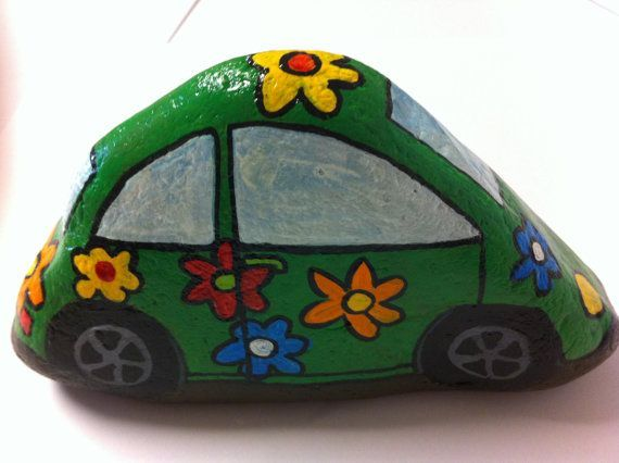 309 best painted rocks - vehicles and trailers images on ...