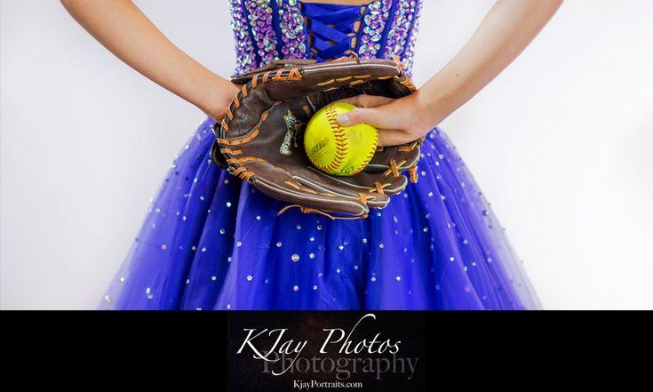 This princess prefers softball cleats to glass slippers. #KJayClassof205 #SeniorPics #softball