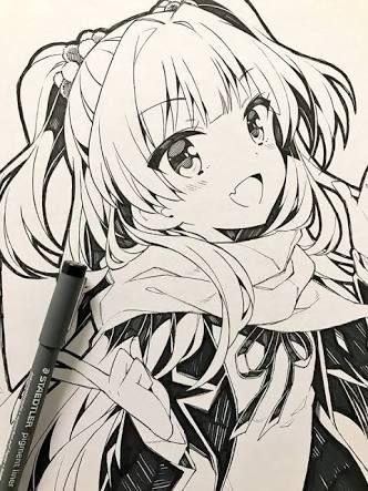 resultado de imagen para cute anime girl drawing