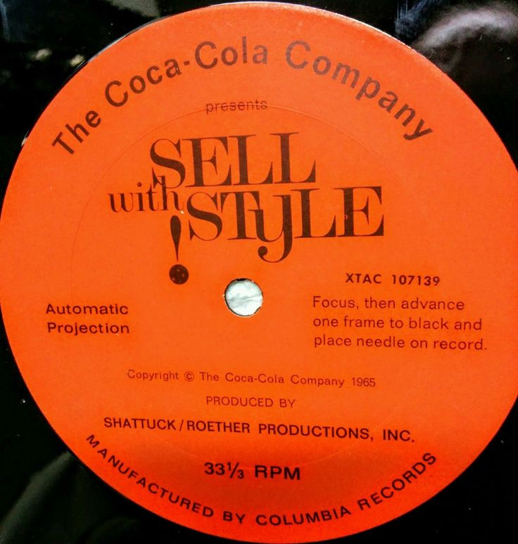 Rare 35mm Filmstrip + Vinyl Lp Advertising Coke Coca-cola From Distributor 1965