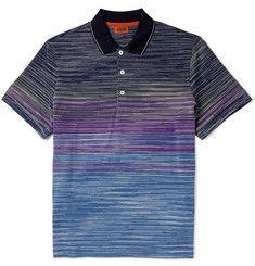 MissoniOmbré Cotton-Piqué Polo Shirt