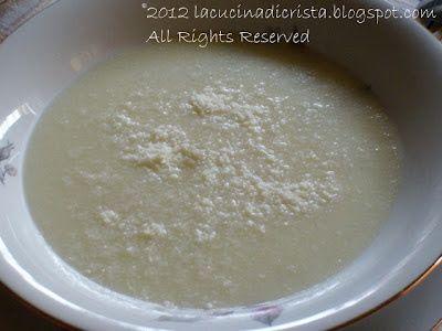 Minestra di semolino - Supa de gris - Cream of Wheat Italian Soup.