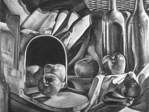 charcoal still life good composition