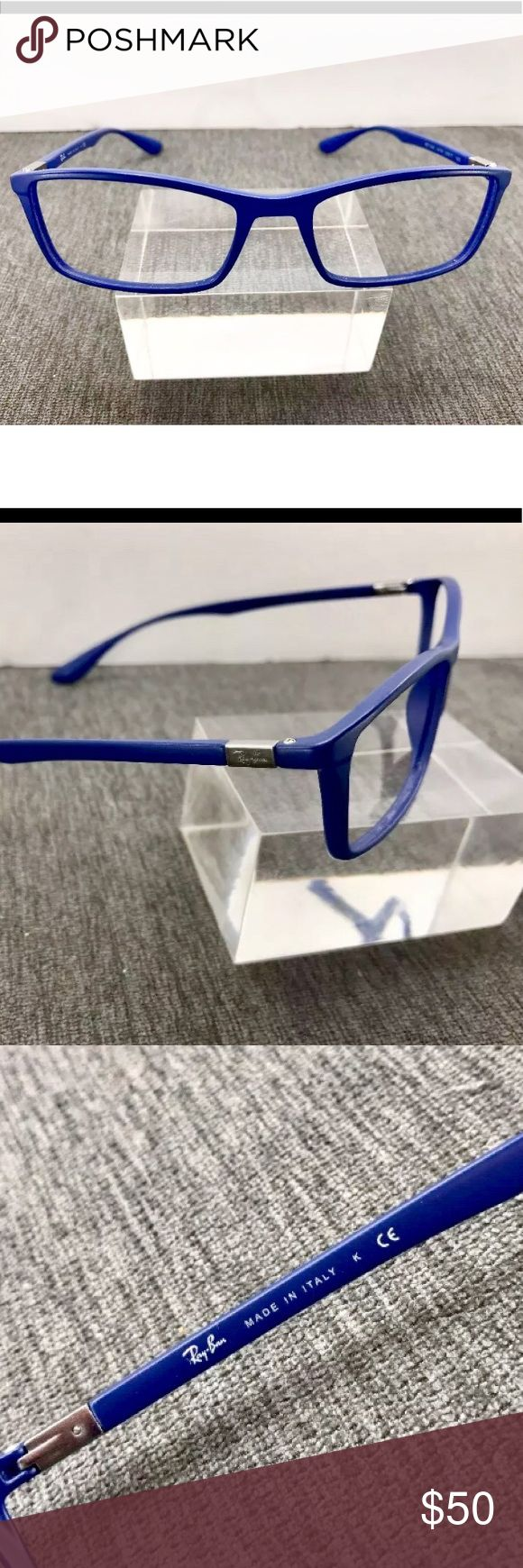 Blue Ray Ban Eyeglass Frames Authentic Ray Ban LiteRay RB7048 5439. Measurements: 53-17-145. Made in Italy. Great condition. Add your own prescription. Ray-Ban Accessories Glasses