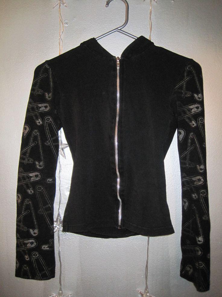 LIP SERVICE Rock Slut hoodie #56-84 - safetypin, razorblade or gun print, size L-XL