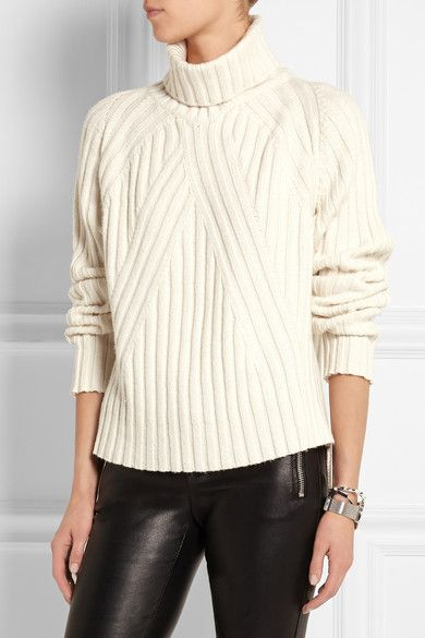 Agnona | Ribbed cashmere turtleneck sweater | NET-A-PORTER.COM