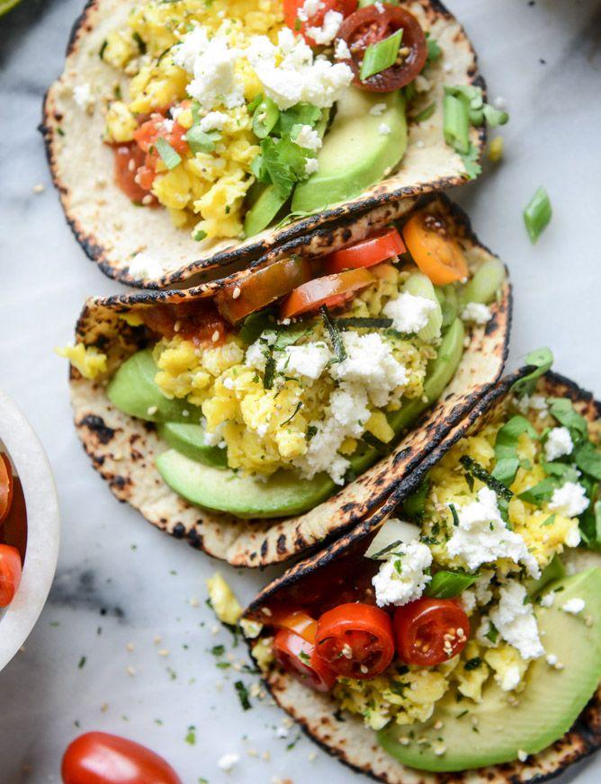 summer breakfast tacos #brunch #veggielove