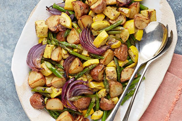 Try our Dijon Oven-Roasted Vegetables as a side dish with your lunch or dinner. Our Dijon Oven-Roasted Vegetables recipe is a zesty and colorful dish.