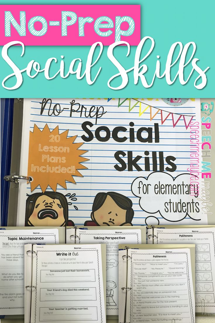 This product is a no-prep packet to aid in targeting social skills. It is meant to serve as a supplement when teaching social skills. In addition to teaching feelings/emotions, politeness, initiating and maintaining conversation, and perspective taking, these worksheets may aid in carryover and a generalization of skills outside the classroom.