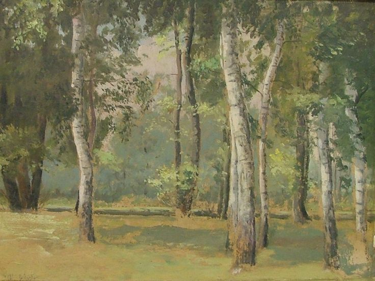 SCHADT Karel (1888-1952) : Břízy.