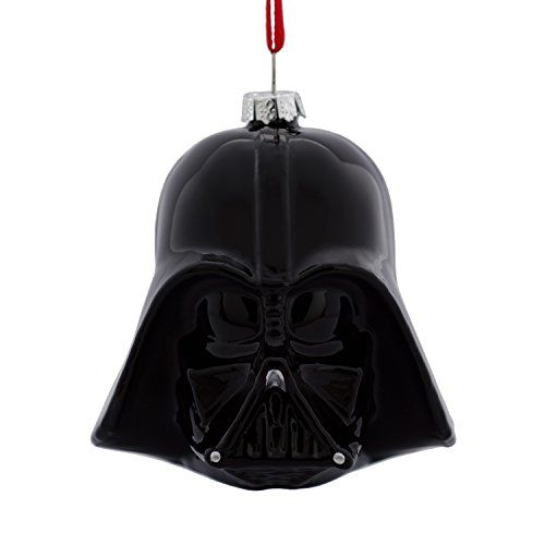 Hallmark Star Wars Darth Vader Helmet Blown Glass Christmas Ornament - Make your Christmas tree impressive... most impressive. This blown-glass ornament of Darth Vader's iconic helmet brings a touch of the dark side to your holiday decorating this season and for years to come. Hallmark Christmas Ornaments celebrate characters from contemporary and classic movies, TV...