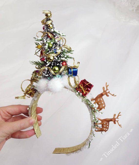 Este Articulo No Esta Disponible Christmas Headband Christmas Tree Headband Christmas Centerpieces