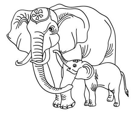 elefant zum online ausmalen | malvorlagen tiere