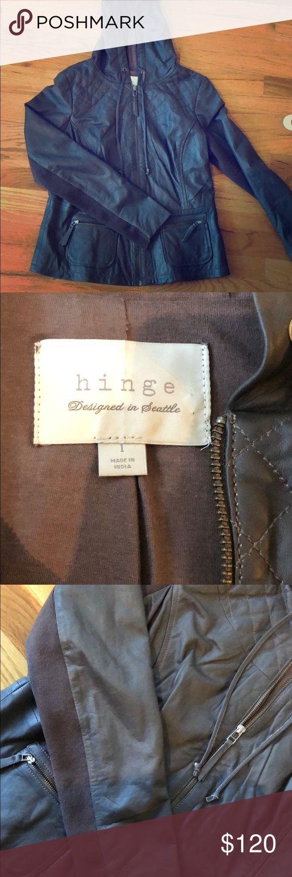 Hinge (Nordstrom) Leather jacket worn twice! Hinge brown