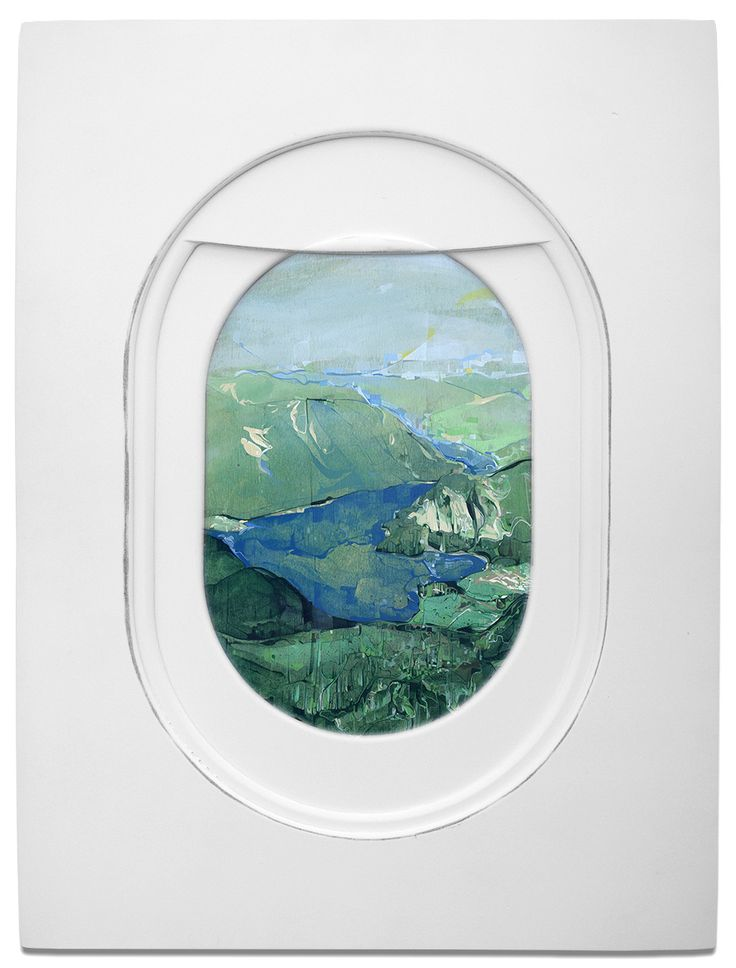 Expressive 'Plane Window' Paintings from Jim Darling. #landscapes #painting