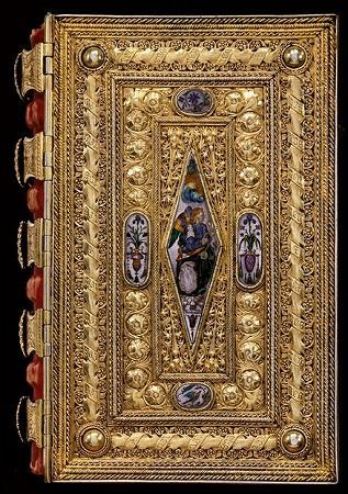長女ルクレツィアの時祷書の表紙