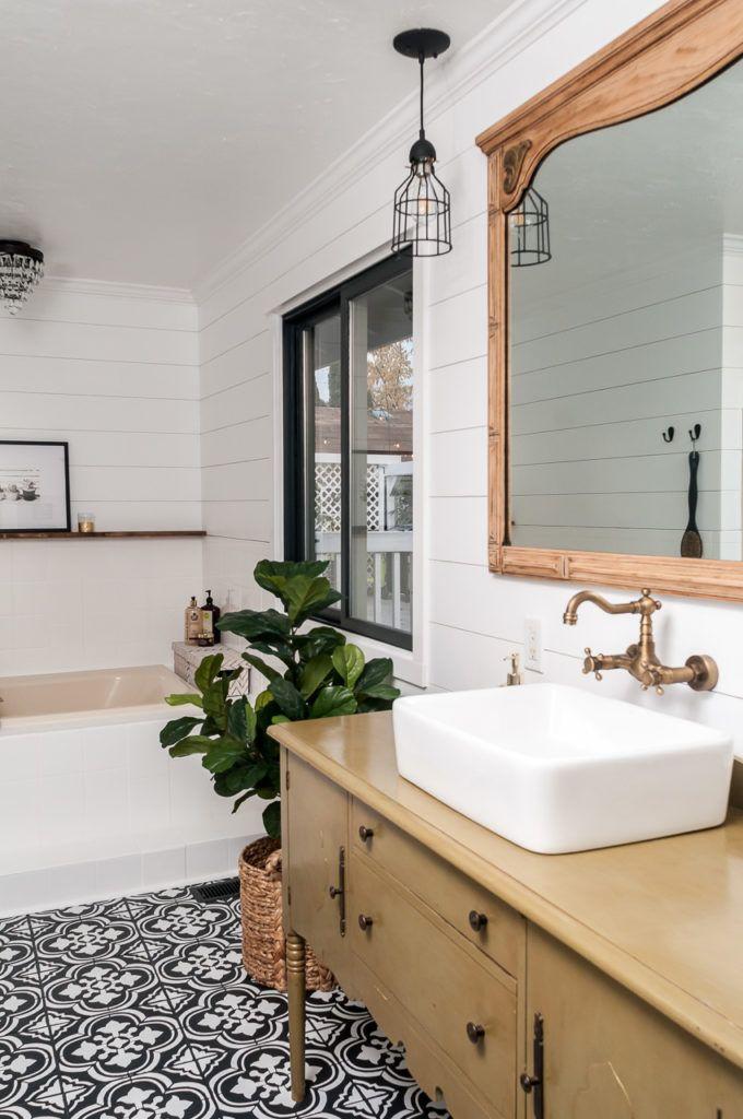 Farmhouse Bathroom Makeover On A Budget Diy Bathroom Makeover