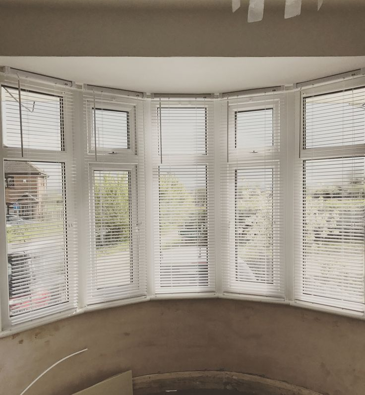 Soooo we can't afford shutters right now but we live the look for our bay window! We also can't afford wooden blinds! These pvc blinds are a great temporary  alternative and only cost around £4.50 each, brand new on eBay! Hope you all like them!
