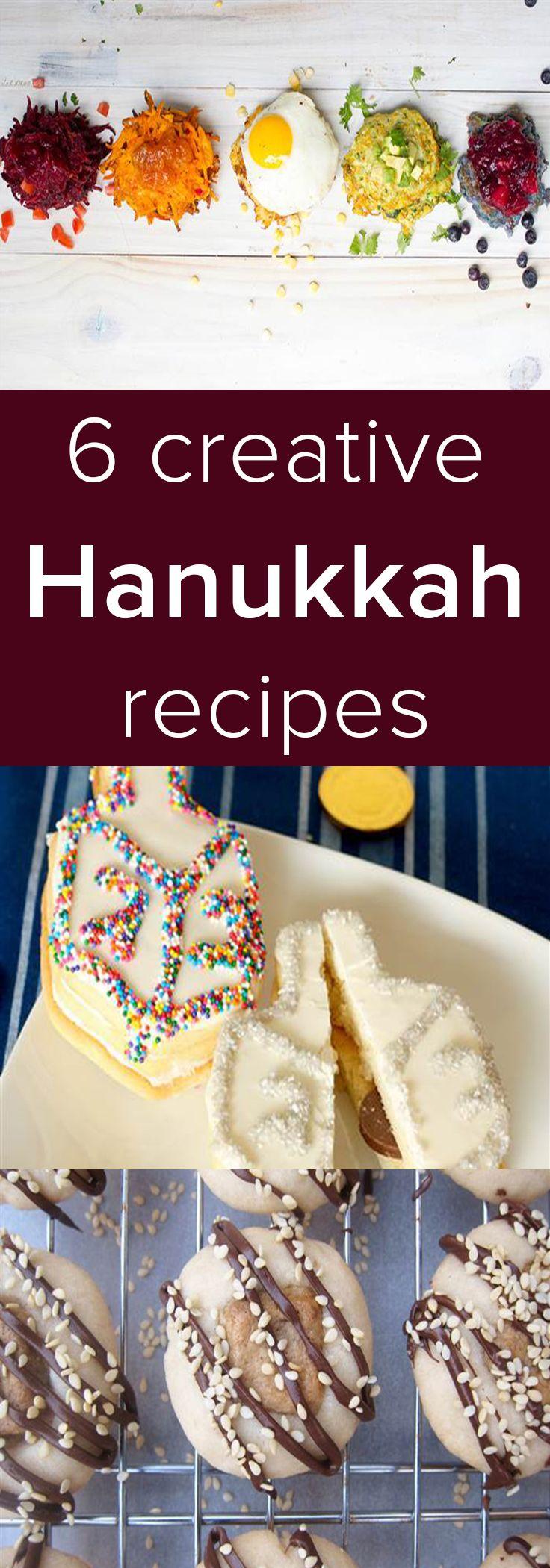 We are loving these easy recipes, perfect for Hanukkah including rainbow latkes and jelly doughnut holes.