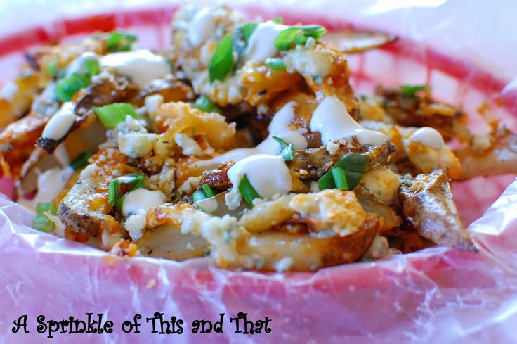 Buffalo Fries: all that buffalo wing flavoring on your fries #footballsnack that is yummy