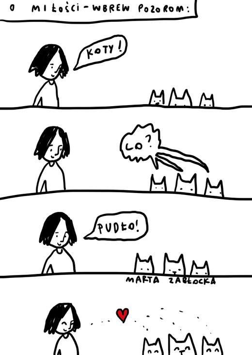 #kot by Marta Zabłocka zycie-na-kreske.blogspot.com