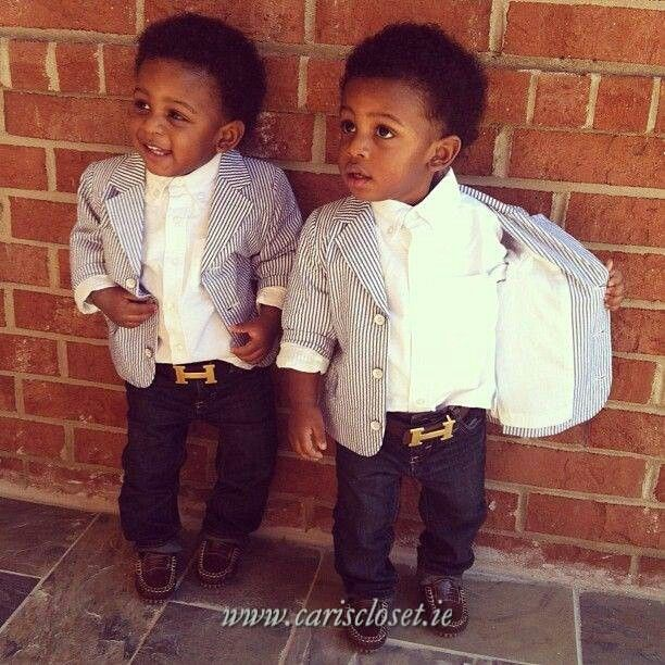 Beautiful Black Kids. Cute Little Girl / Boys Fashion