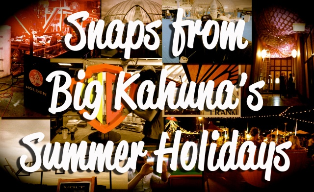 "Big Kahuna Imagineering workshop kept humming over the Christmas break with BIG marketing/ bespoke build projects for Tennis Australia, Honda, Holden and more so we thought we'd put together a quick Summer photo album to show you how we spent our ""holidays""… enjoy!"