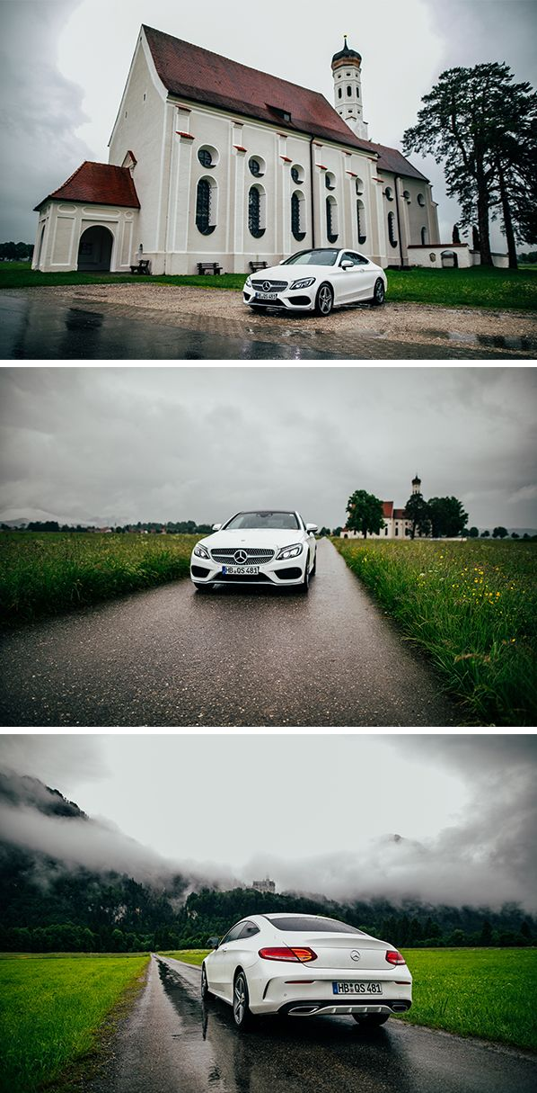 It doesn't matter whether the weather is good or bad, because with the new Mercedes-Benz C-Class Coupé you always travel in style. Photos by Florian Roser. (www.florianroser.com) #MBsocialcar