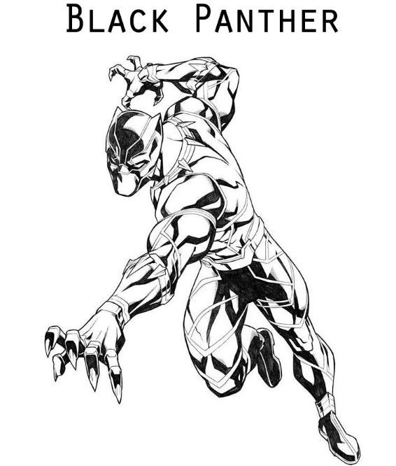 black panther coloring page | Coloring Board | Pinterest | Coloring ...