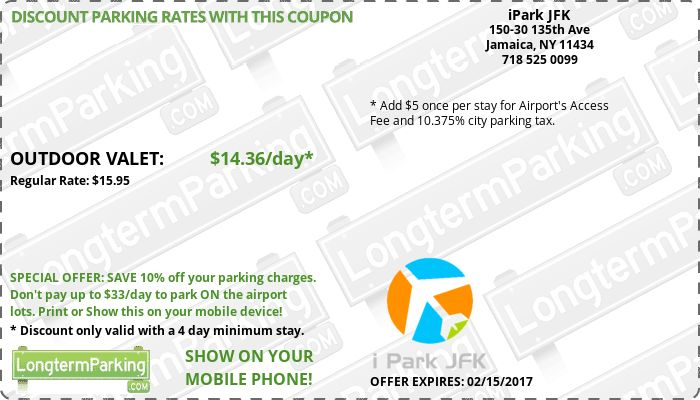 iPark JFK New York Kennedy Airport JFK Airport Parking Coupon from LongtermParking.com