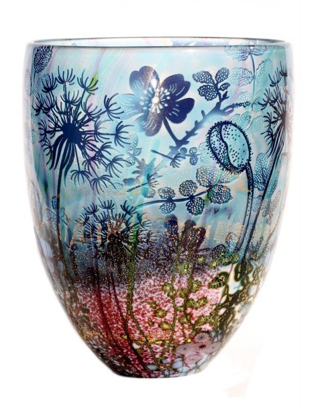 Jonathan Harris hand carved Intrinsic wildness dandelion vase