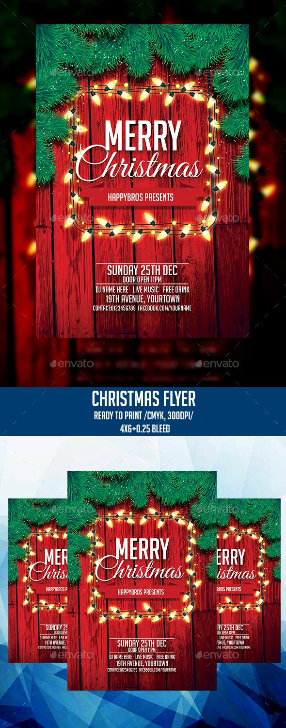 #Christmas - #Clubs & Parties #Events Download here: https://graphicriver.net/item/christmas/18946503?ref=alena994