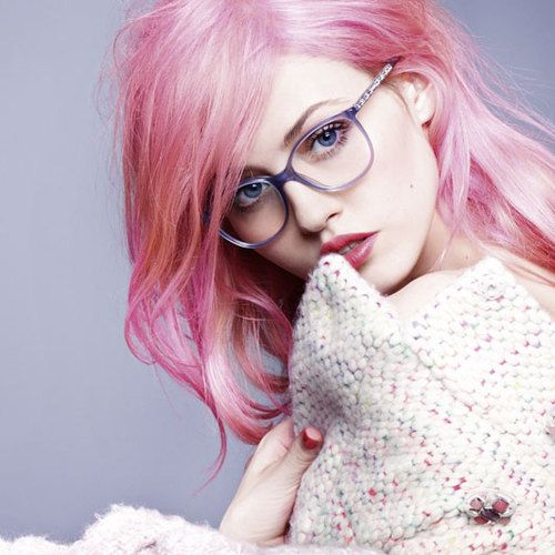 grafika glasses, model, and pink