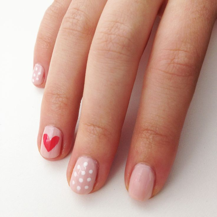 An Easy Heart Nail Design to DIY