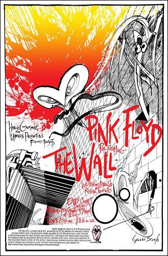 Pink Floyd London concert poster