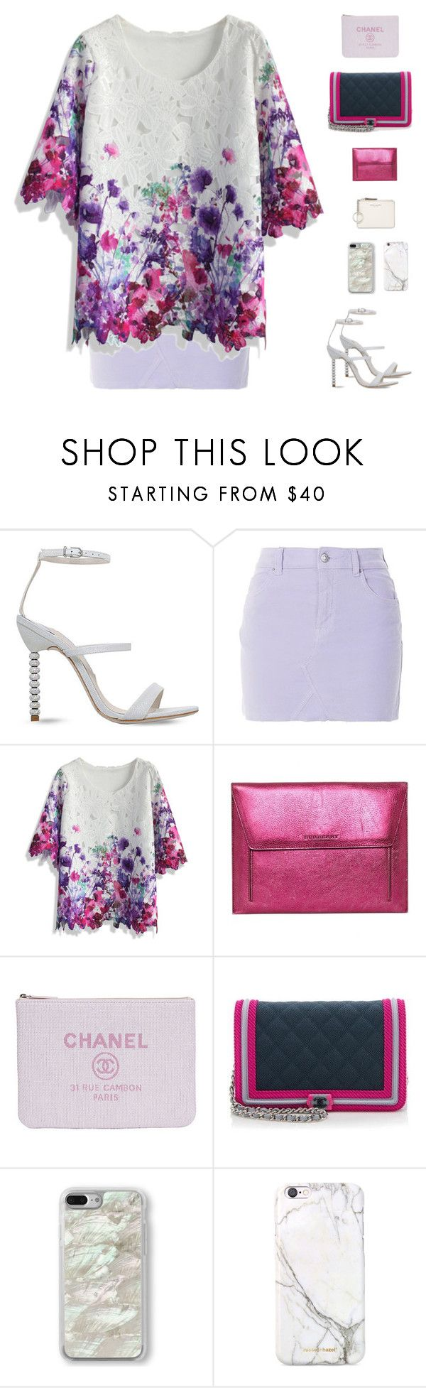 """Sophia Webster Rosalind Crystal-Embellished Heeled Sandals"" by sol4nge ❤ liked on Polyvore featuring Sophia Webster, Topshop, Chicwish, Burberry, Chanel, Recover, russell+hazel and Marc Jacobs"